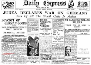 Judea Declares War On Germany - London Daily Express