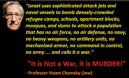 Noam_chomsky-It_is_not_War_it_is_murder_by_Zionist_Israel