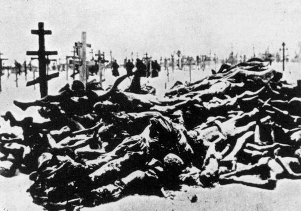 One photographic representation of victims of the 1921 famine in Russia - a forced famine implimented by predominently Jewish-led Bolshevik 'Cheka' - The All-Russian Extraordinary Commission for Combating Counter-Revolution and Sabotage.