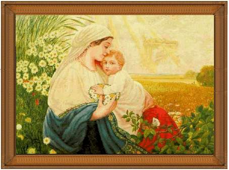 Mother Mary with the Holy Child Jesus Christ - Oil Painting, 1913, Adolf Hitler