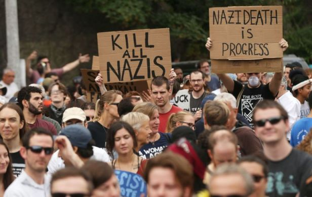 'Nazi' being code for White Euro-Americans who seek to protect and defend Their Traditions, Families, and Culture - this is an all out declaration of the intent to annihilate.