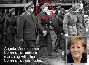 Merkel the Happy Communist