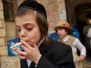 Smoking Jewish boy
