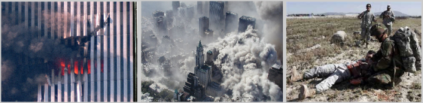 The destruction of the Twin Towers and the Afghanistan debacle aftermath.