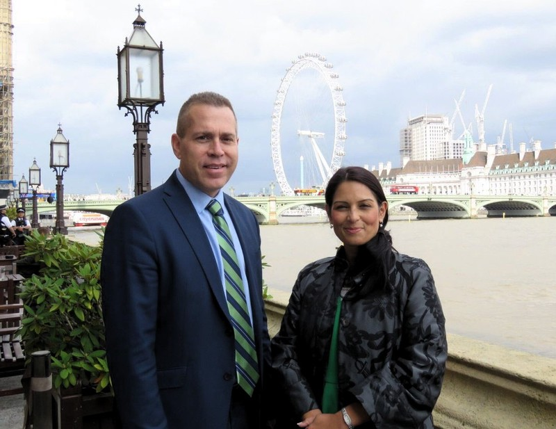 gilad erdan and uk aid minister priti patel
