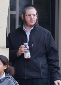 Monstrous ortho-jew Benjamin Beigel outside Stratford Magistrates' Court