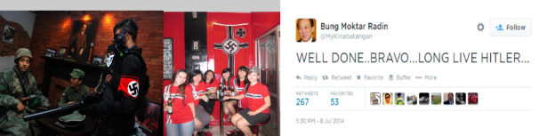 Hitler Cafe in Indonesia - 2014 World Cup Congrats