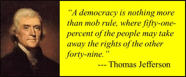 Jefferson and the Mob Rule of Democracy