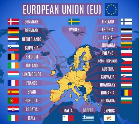 map of european union-eu