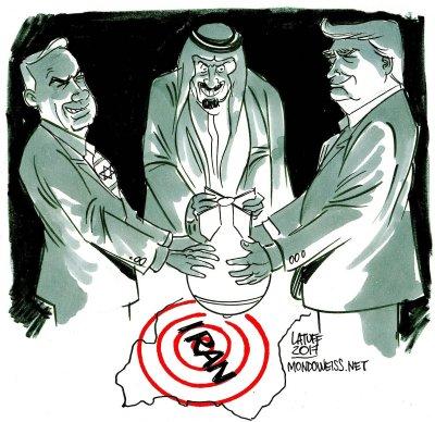 target Iran, Image: Carlos Latuff