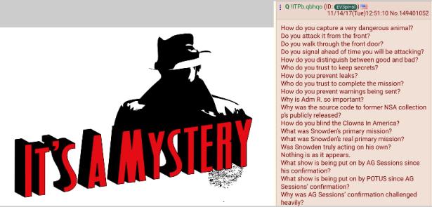 Qanon - It's a mystery