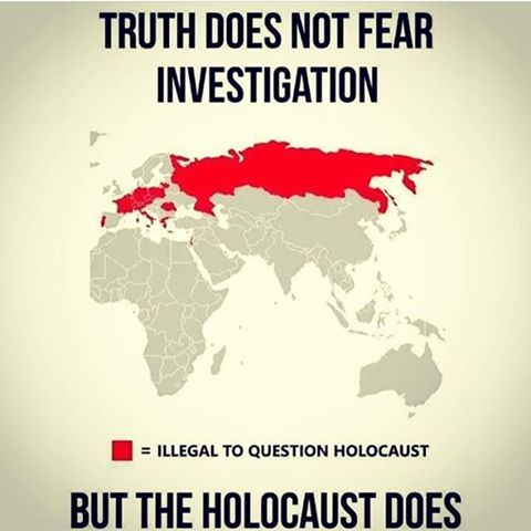 truth does not fear investigation - but the holocaust does