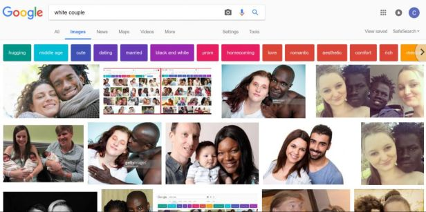 Google White Couple search