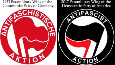 antifa logos - german/english
