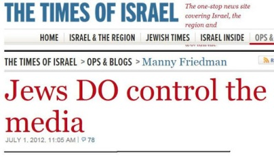 jews DO control the media - times of israel