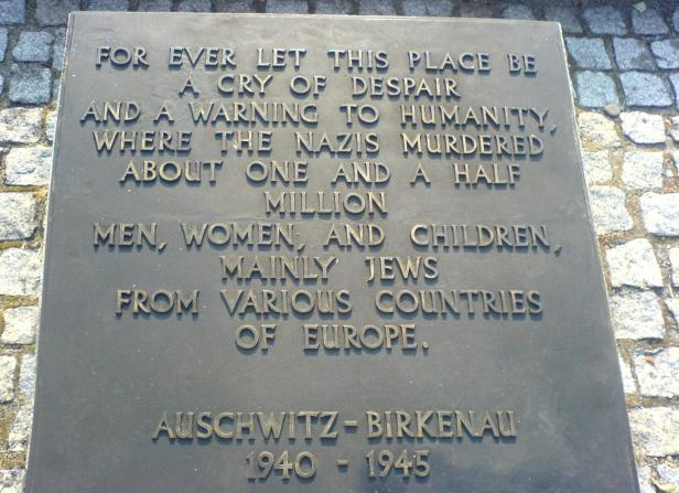 'About One And A Half Million' -'4 million' - Current Auschwitz plaque