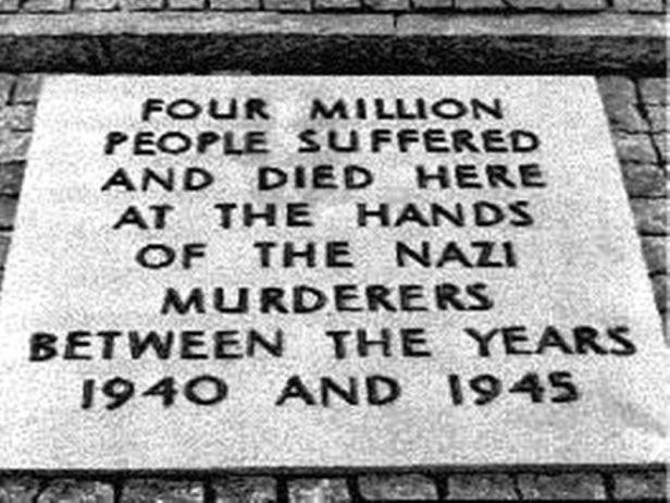 '4 million' Auschwitz plaque - 1948 until 1989