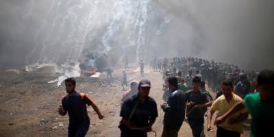 israeli gas attack - © Mohammed Salem Reuters