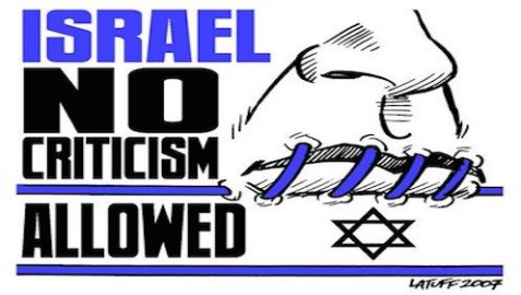 israel - no criticism allowed