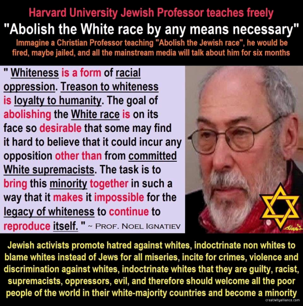 noel ignatiev - jew hate